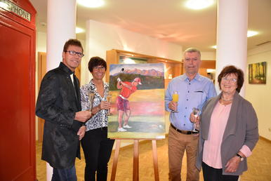 Golf trifft Kunst im Wittlinger Therapiezentrum